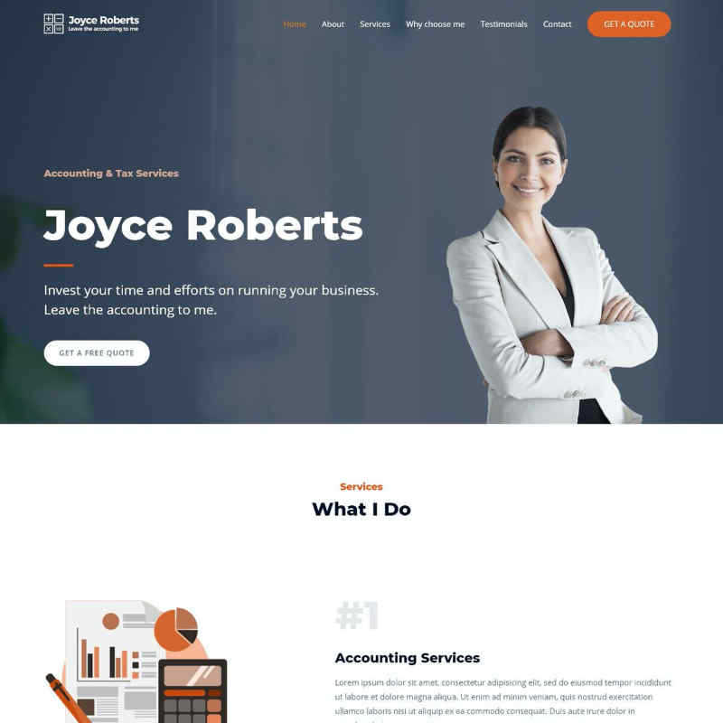 Accountant Website Template