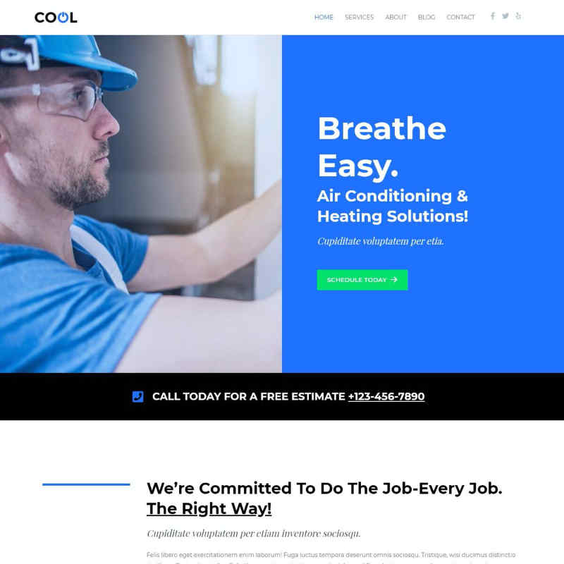 Air Conditioning Website Template
