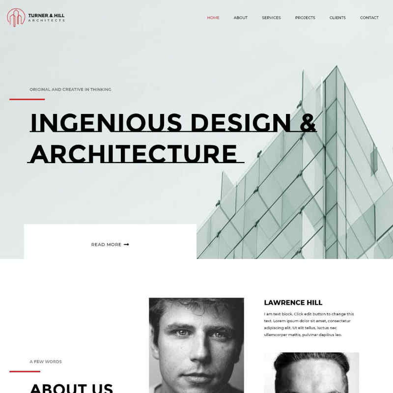 Architect Website Template