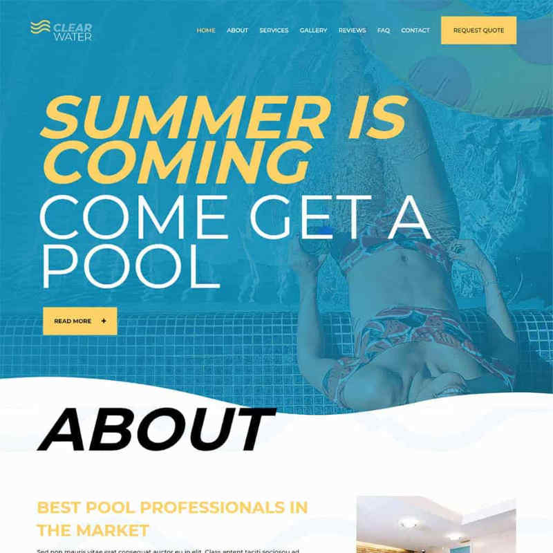 Pool Services Website Template